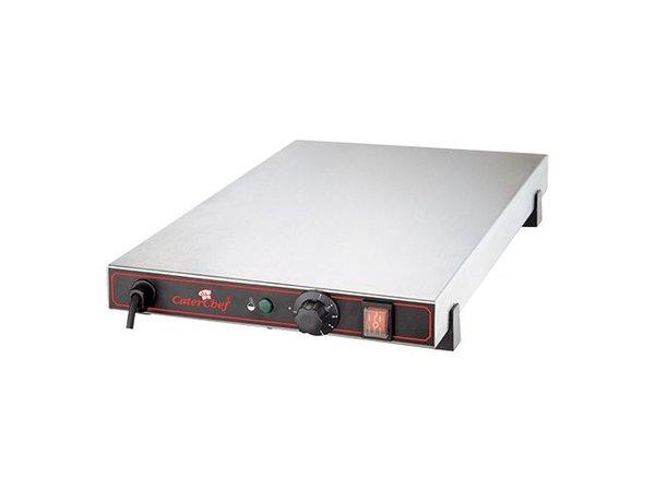 Caterchef Elektrische Kochplatte - Edelstahl - 1/1 GN - 53x33x (h) 9cm