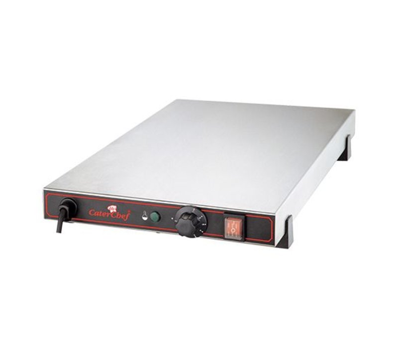 Caterchef Electric Hot Plate - Stainless Steel - 1/1 GN - 53x33x (h) 9cm