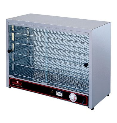 Caterchef Warming Showcase SS - 5 Schedules - 2 Sliding window - 640x360x (h) 530mm