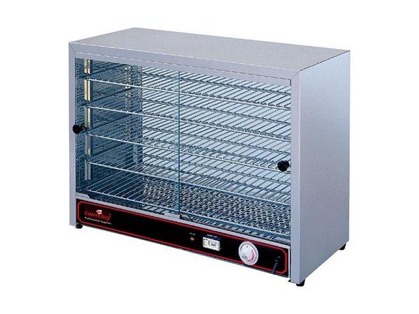 Caterchef Warming Showcase SS - 5 Schedules - 2 Sliding window - 640x360x (h) 530mm