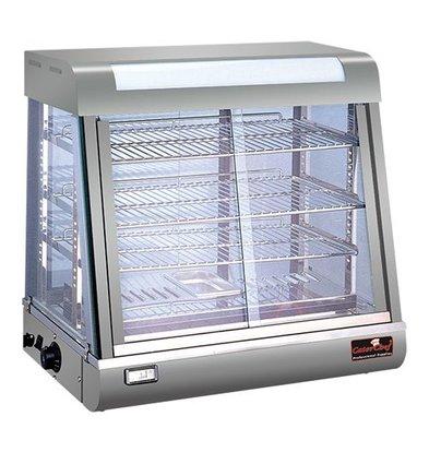 Caterchef Warming Showcase SS - 4 Roosters - beide Seitenschiebefenster - LED-Beleuchtung - 690x440x (h) 660mm