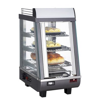 Caterchef Warming Vitrine RVS - 3 Roosters - 1 Swing door - LED Lighting - 350x490x (h) 660
