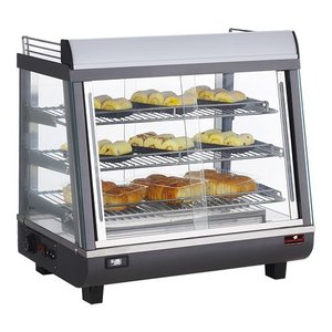 Caterchef Warming Vitrine RVS - 3 Roosters - Both Side Operable - LED Lighting - 680x490x (h) 660mm