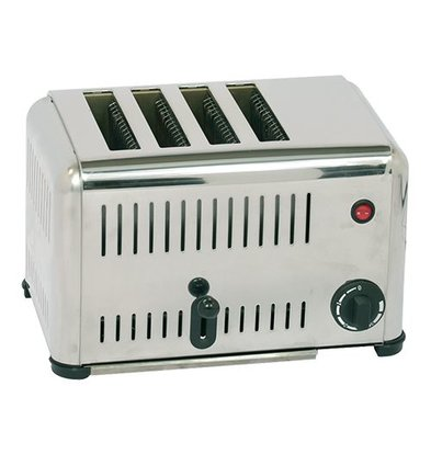 Caterchef Stainless Steel Toaster 4 slots - 37x21x (H) 23cm - 2000W