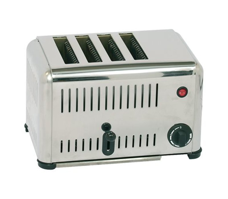 Caterchef Broodrooster RVS 4 sleuven - 37x21x(H)23cm - 2000W