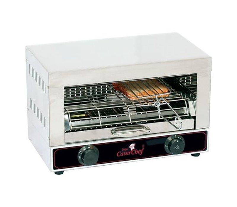Caterchef Toaster Sandwich drei Terminals mit getrennt einstellbaren Elemente - 44x25x (H) 29cm - 1700W