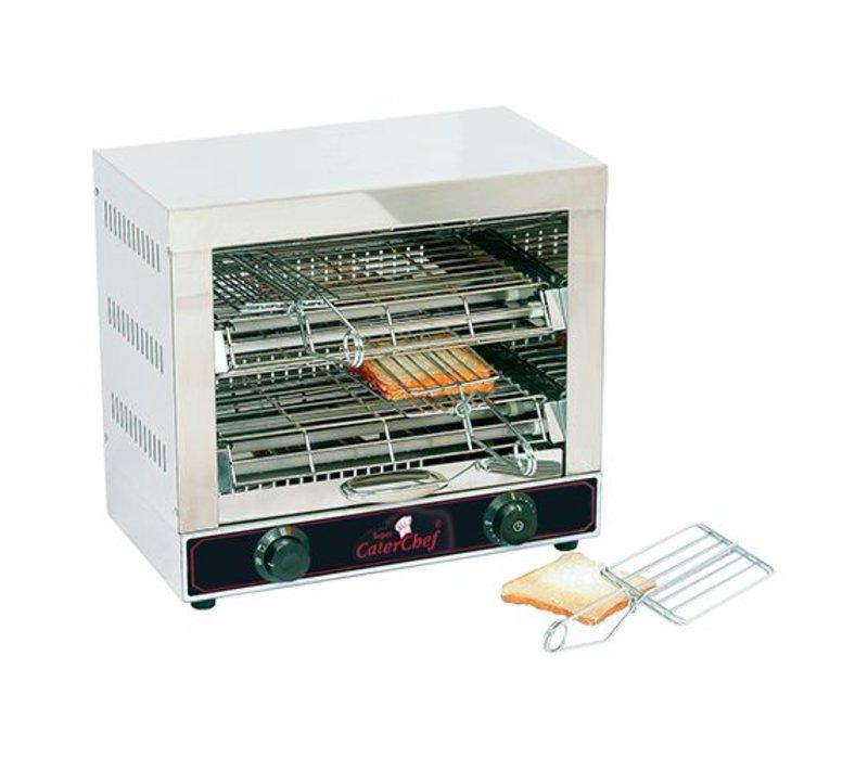 Caterchef Toaster 6 Sandwich Klemmen aus Edelstahl 18/10 - 44x25x (H) 40cm - 3000W