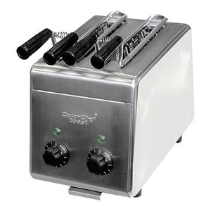 Caterchef Sandwich maker stainless steel - two Klems + Timer & Control lamp - 31x20x (H) 29cm - 1200W