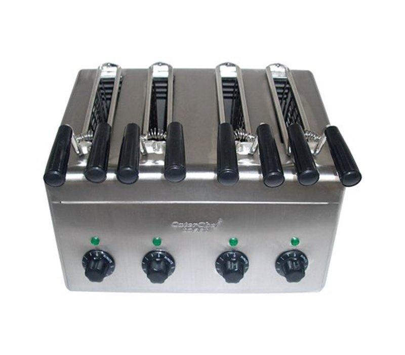 Caterchef Sandwich maker 4 KLEMS for immediate use - 31x38x (H) 29cm - 2400W