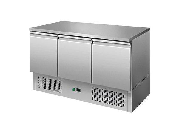 CaterCool Cool Workbench - RVS - 3 door - 136x70x (h) 85cm