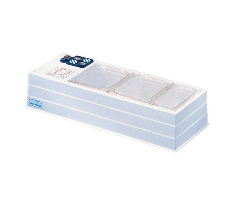 CaterCool Opzetvitrine Buffet - Gekoeld - Micro - 102x45x30(h) cm