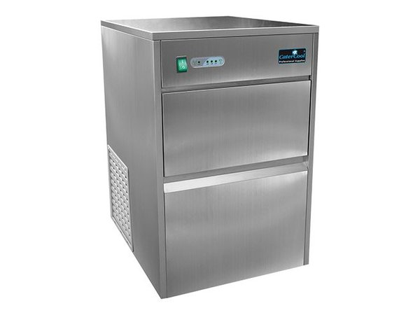 CaterCool Eiswürfel-Maschine 25kg / 24h - Hohl Transparent Eiswürfel - 8 kg Lager