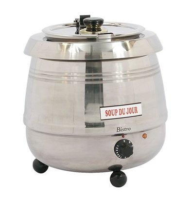 Bistro Elektrische Suppenkessel 10 Liter Edelstahl