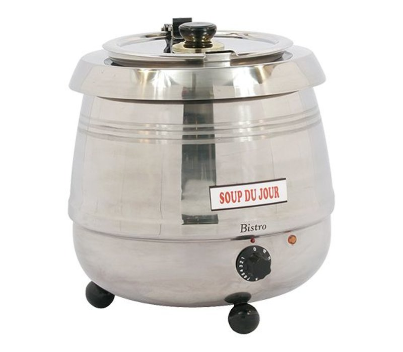 Bistro Electric Soup Kettle 10 Liter Stainless Steel