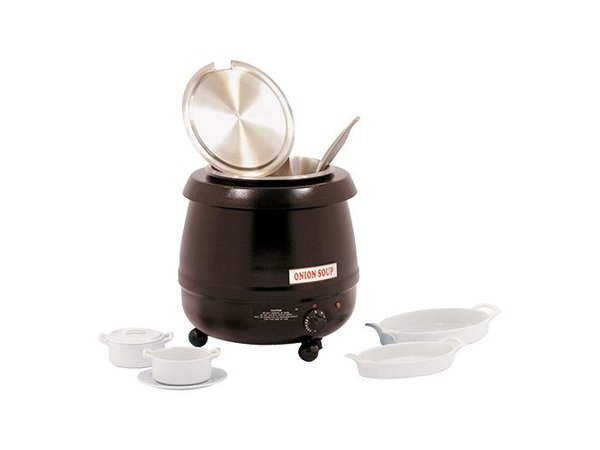 Bistro Electric Soup Kettle 10 Liter Black - XXL Offer