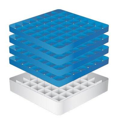 CaterRacks Foot glass basket - 49 boxes - (h) 24 cm - 6.3 cm diameter