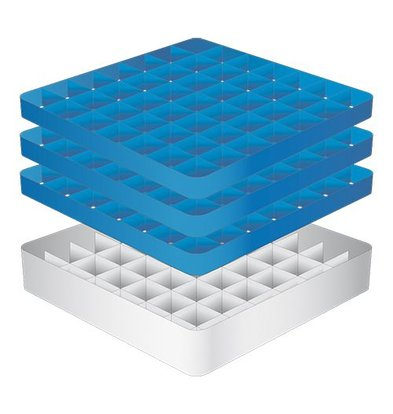 CaterRacks Foot glass basket - 49 boxes - (h) 20 cm - 6.3 cm diameter