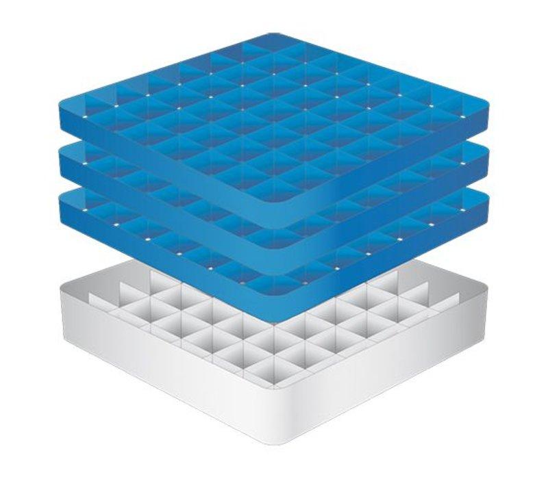 CaterRacks Foot glass basket - 49 boxes - (h) 20 cm - 6.3 cm diameter