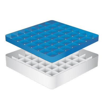 CaterRacks Foot glass basket - 49 boxes - (h) 12 cm - 6.3 cm diameter