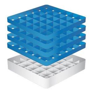 CaterRacks Foot glass basket - 36 boxes - (h) 24 cm - 7.4 cm diameter