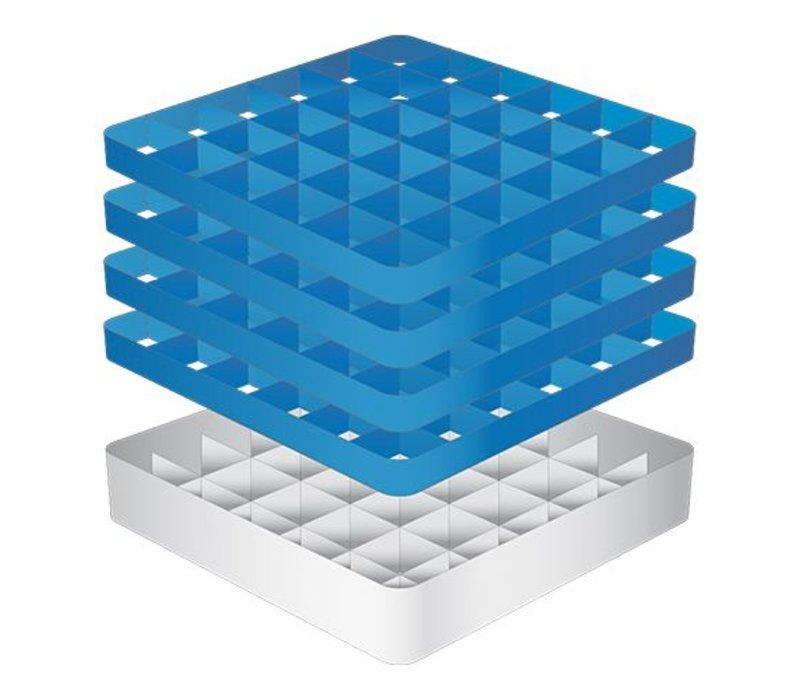 CaterRacks Fuß-Glaskorb - 36 Boxen - (h) 24 cm - 7,4 cm Durchmesser