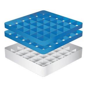 CaterRacks Fuß-Glaskorb - 36 Boxen - (h) 16 cm - 7,4 cm Durchmesser