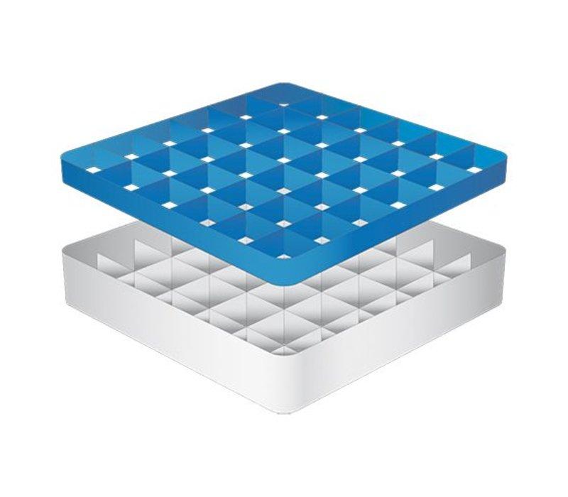 CaterRacks Fuß-Glaskorb - 36 Boxen - (h) 12 cm - 7,4 cm Durchmesser