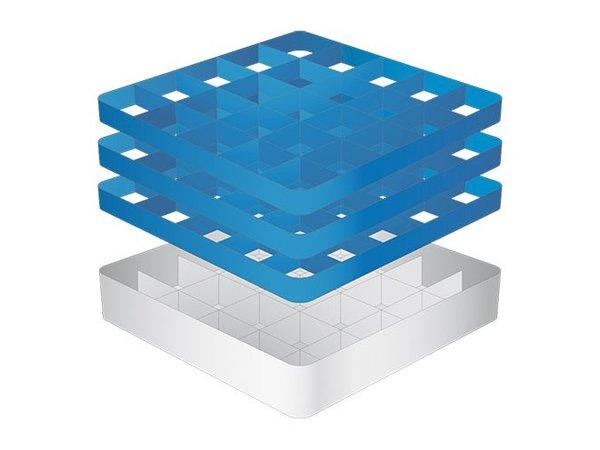CaterRacks Fuß-Glaskorb - 25 Boxen - (h) 20 cm - Durchmesser von 9 cm