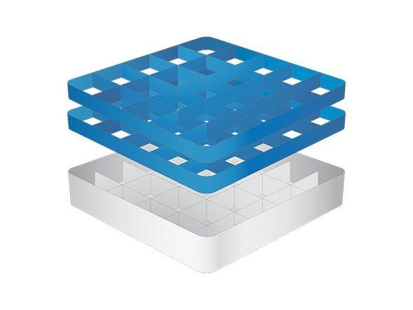 CaterRacks Fuß-Glaskorb - 25 Boxen - (h) 16 cm - Durchmesser von 9 cm