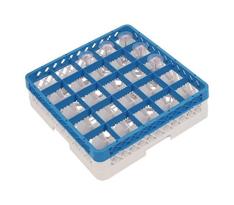 CaterRacks Fuß-Glaskorb - 25 Boxen - (h) 12 cm - Durchmesser von 9 cm
