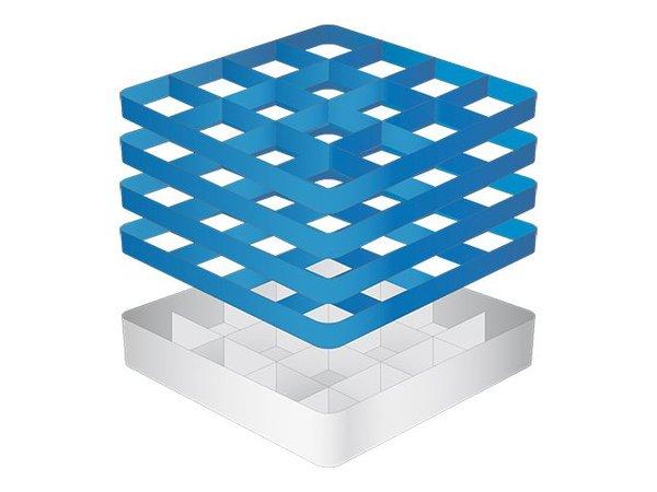 CaterRacks Fuß-Glaskorb - 16 Boxen - (h) 24 cm - 11,2 cm Durchmesser