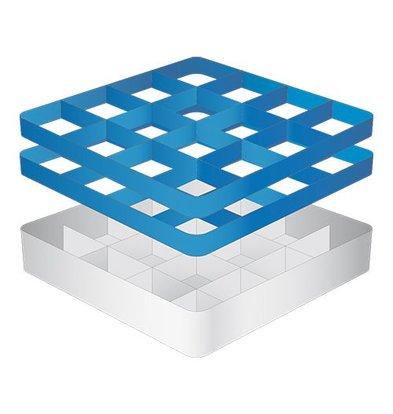CaterRacks Fuß-Glaskorb - 16 Boxen - (h) 16 cm - 11,2 cm Durchmesser
