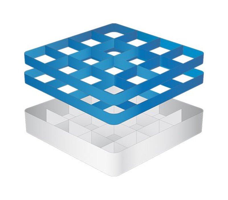 CaterRacks Foot glass basket - 16 boxes - (h) 16 cm - 11.2 cm diameter