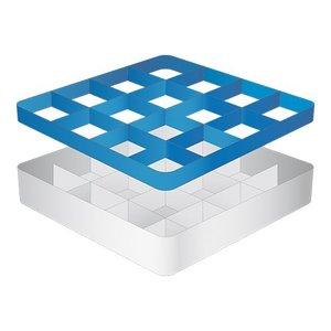 CaterRacks Fuß-Glaskorb - 16 Boxen - (h) 12 cm - 11,2 cm Durchmesser