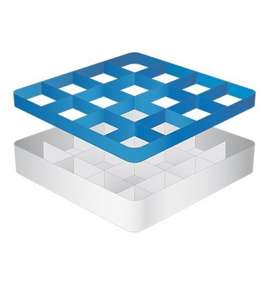 CaterRacks Foot glass basket - 16 boxes - (h) 12 cm - 11.2 cm diameter