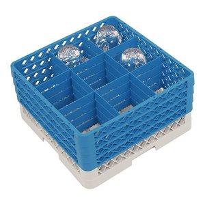 CaterRacks Foot glass basket - 9 subjects - (h) 24 cm - 15 cm diameter
