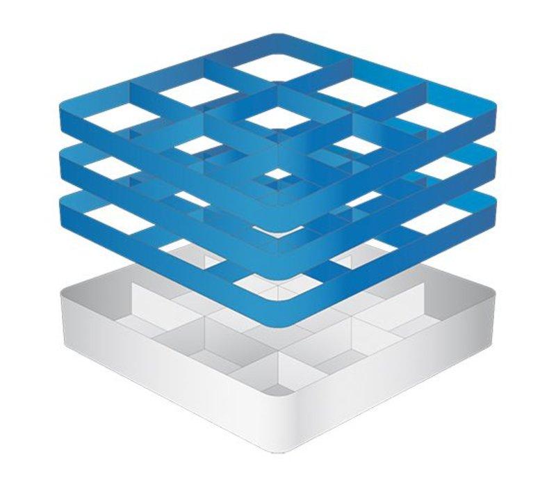 CaterRacks Foot glass basket - 9 subjects - (h) 20 cm - 15 cm diameter