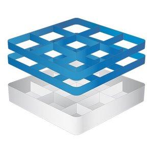 CaterRacks Fuß-Glaskorb - 9 Themen - (h) 16 cm - 15 cm Durchmesser