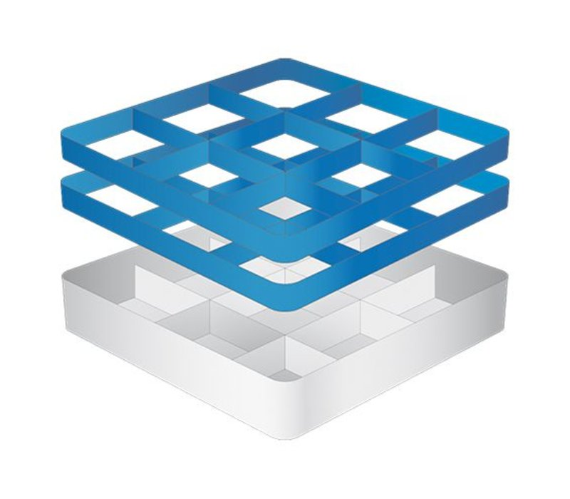 CaterRacks Foot glass basket - 9 subjects - (h) 16 cm - 15 cm diameter