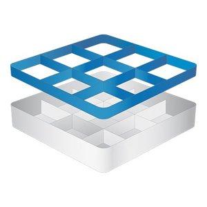 CaterRacks Foot glass basket - 9 subjects - (h) 12 cm - 15 cm diameter