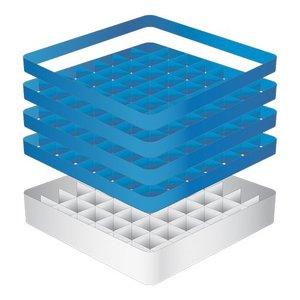 CaterRacks Beakers basket - 49 boxes - (h) 24 cm - 6.3 cm diameter