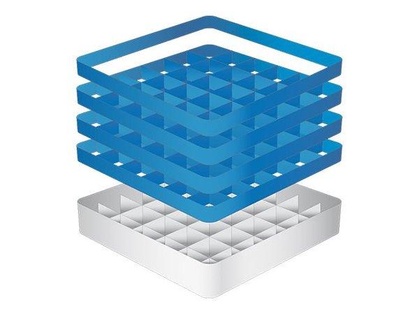 CaterRacks Beakers basket - 36 boxes - (h) 24 cm - 7.4 cm diameter