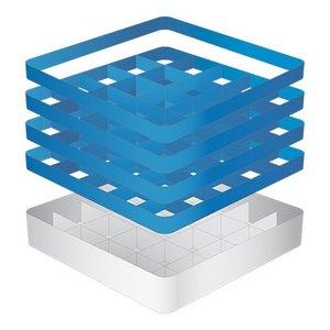 CaterRacks Beakers basket - 25 boxes - (h) 24 cm - 9 cm diameter
