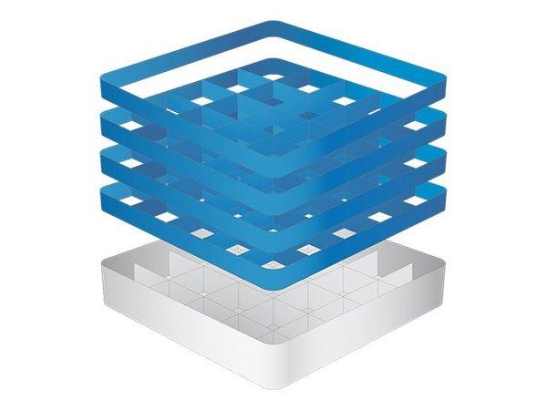 CaterRacks Becher Korb - 25 Boxen - (h) 24 cm - Durchmesser von 9 cm
