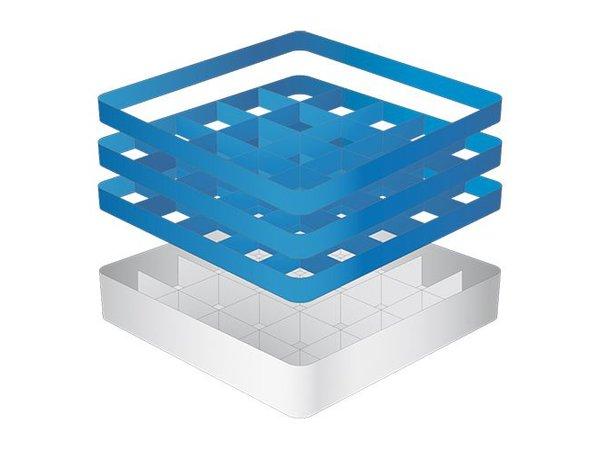 CaterRacks Beakers basket - 25 boxes - (h) 20 cm - 9 cm diameter