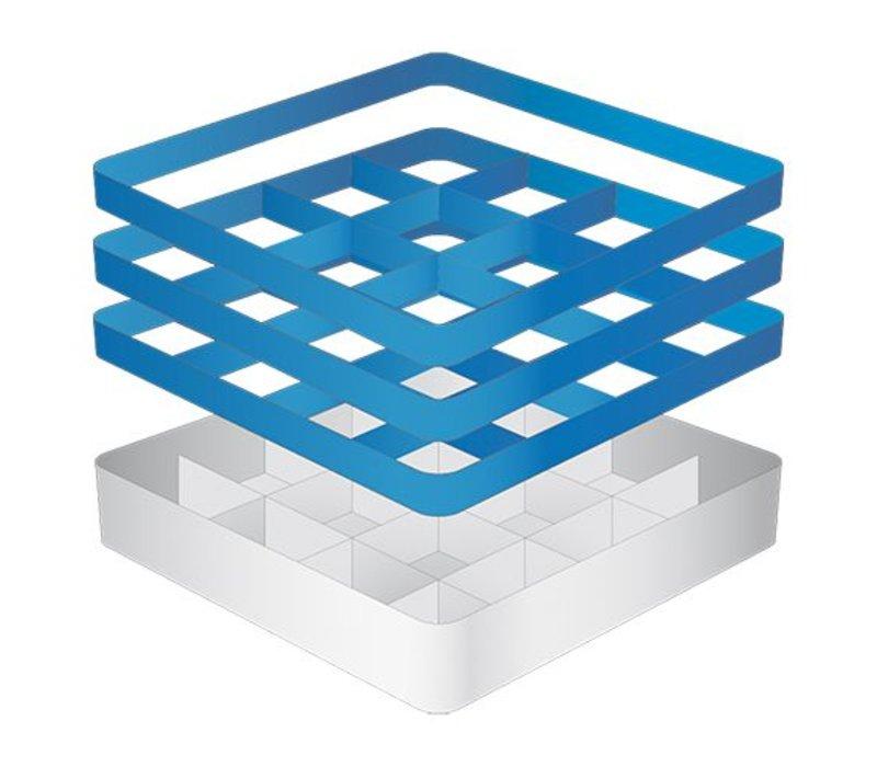 CaterRacks Beakers basket - 16 boxes - (h) 20 cm - 11.2 cm diameter