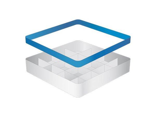 CaterRacks Becher Korb - 16 Boxen - (h) 12 cm - 11,2 cm Durchmesser