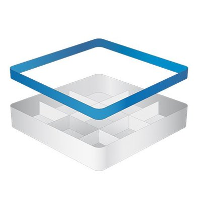 CaterRacks Beakers basket - 9 subjects - (h) 12 cm - 15 cm diameter