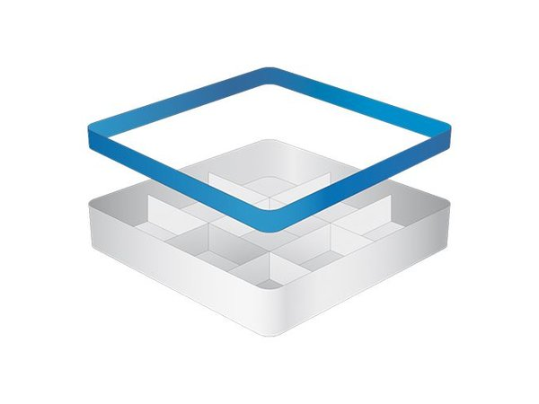 CaterRacks Becher Korb - 9 Themen - (h) 12 cm - 15 cm Durchmesser