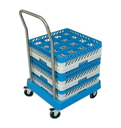 CaterRacks Transportwagen Afwaskorven - met Duwbeugel - 850x520x(h)520mm